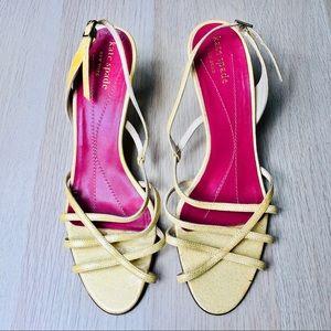Kate Spade Yellow Strappy Sandal Heels